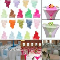 """2 in 1 Wider 23"""" x 108"""" Organza Sashes Table Runner Chair Cover Fuller Bow 25pcs"""