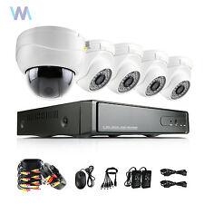 PTZ 8CH 1080P DVR AHD 2MP Led Dome Outdoor CCTV Security Camera System Night