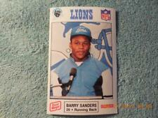 1989 POLICE BARRY SANDERS ROOKIE MUCH RARER THAN SCORE  $1.99 great deal!!