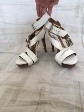 Micheal Kors White Buckle Leather, Women's Shoes, Size 6M