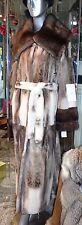 GORGEOUS Mink Fur Long Coat Two Tone Winter White Brown $18000.