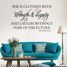 Strength Dignity Bible Verse Wall Art Sticker Quotes Decal Home Office Bedroom