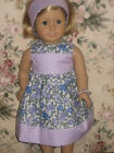 "Handmade American Girl Doll Clothes/Fits 18"" Dolls/Lilac Floral & Polka Dots"