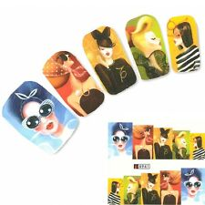 Nagel Sticker Model Karikatur Nail Art Nägel Fuß Water Decal