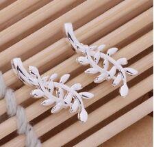 Modeschmuck-Ohrschmuck im Hänger-Stil aus Sterlingsilber mit Kristall und Durchzieher