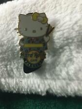 Hard Rock Cafe Pin Yokohama ~ Summer Series Hello Kitty in Kimono w Drumsticks