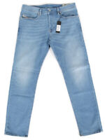 Diesel Buster 087AQ Herren Regular Slim Fit Stretch Jeans Hell Blau - W34 L32