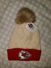 NFL Team Headwear Womens Knit Winter Pom Hat Beanie Kansas City Chiefs Superbowl
