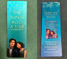 "5 - ""THE SUN IS ALSO A STAR"" MOVIE PROMO 3D FLIP BOOKMARKS Charles Melton Yara"