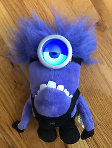 Despicable Me 2 Plush Talking Purple Minion Thinkway Toys Working Tested