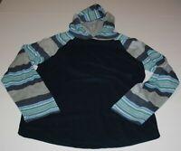 NEW Gymboree Boys Top 14 year Hooded Hooded Navy Blue Raglan Sleeve Gray Blue Pr