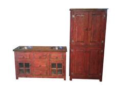 Custom Rustic Reclaimed Wood Bathroom Vanity With Storage Cabinet