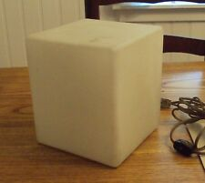 Original Mid Century Modern Laurel Lamp Mfg. Co. Frosted Glass Cube Retro Light