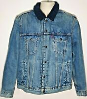 BNWT Levi's Premium Warm Winter Sherpa Trucker Denim Borg Jacket Size M