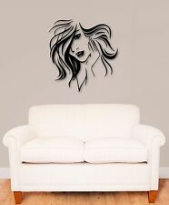 Wall Stickers Vinyl Decal Beautiful Woman Hairstyle Hair (ig838)