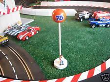 3 UNION 76 GAS SIGNS 1/32 SLOT CAR CARRERA FLY SCALEXTRIC WOMP FLEXI NASCAR F-1