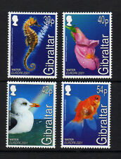 Gibraltar 2001 MNH 4v, Europa, Seahorse, Flower, Birds, Seagull, Fish
