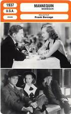 FICHE CINEMA : MANNEQUIN - Crawford,Tracy,Curtis,Borzage 1937