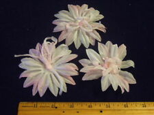 Vintage Millinery Flower G3 Organdy Swirl Shaded Pink Lot of 3 G3 for Hat + Hair
