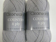 CLECKHEATON COUNTRY 8 PLY 10 BALLS DOVE GREY,PURE WOOL,NO 2342,DISCONTINUED COL
