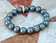 Gray Shell Pearl Beaded Bracelet