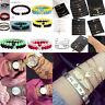 Fashion Women Rhinestone Beaded Chain Alloy Bracelets Accessories Jewelry Sets