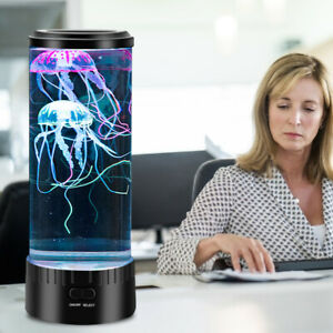 7 Colors Changing LED Jellyfish Lamp JellyFish Tank Aquarium Mood Night Light