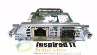 EHWIC-1GE-SFP-CU - Cisco Enhanced HWIC, Dual Mode 1 port SFP/Copper