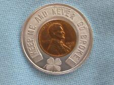 Encased Wheatie Penny, 1956D, Good Luck Coin/ Charm