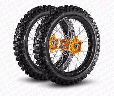 KTM MX WHEEL SET FOR XC SX SXF EXC XCW MODELS ANY COLOR ON RIM/HUB W/ TIRES