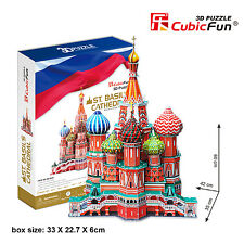 1pc CubicFun 3D Puzzle ST. Basil's Cathedral Russia MC093h173 pcs Handy Jigsaw
