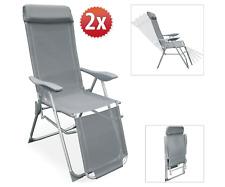 Premium Set of 2 Recliner Sun Lounger Outdoor Garden Patio Folding Deck Chairs