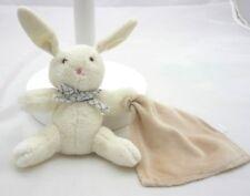 Corolle doudou lapin écru avec mouchoir beige grelot 17 cm