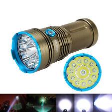 35000LM 12x XML T6 LED lampe de poche torche 4x18650 chasse pêche voyage 3 Modes