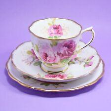 Royal Albert 'American Beauty' Tea Trio, Cup, Saucer, Plate, Vintage, England