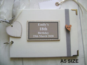 PERSONALISED 18th birthday PHOTO ALBUM/SCRAPBOOK/MEMORY/GUEST BOOK a5 or a4 size
