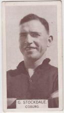 Coburg Football Club 1933 G Stockdale W D & H O Wills Footballers cigarette card