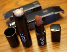 HIKARI LOT Shine Lipstick Romance (Nude) & Dual Color Stick Tawny