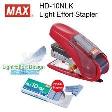 MAX HD-10NLK SAKURI Light Effort Stapler (20 pages) + 1 Box Staples FREE!!