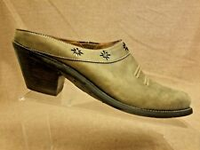 Ariat 13329 Women Shoes Brown Western Cowboy Mules Leather Open Heel Size 7.5 B