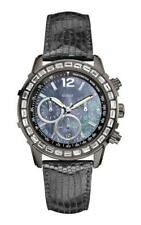 GUESS Reloj de las mujeres w0017l3 Análogo Cronógrafo Cuero Negro