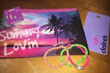 Claire's Summer Jewelry Earrings Cosm Bag Flip Flop Beach Easter Lot Nwt