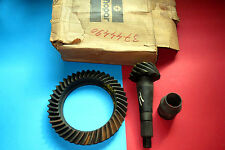 Mopar 1969 to 74 Dodge Plymouth 3744490, 11/43 ring gear and pinion. NOS.