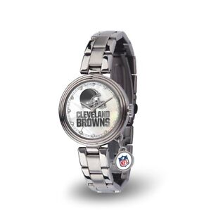 Cleveland Browns Charm Watch with Stainless Steel Band