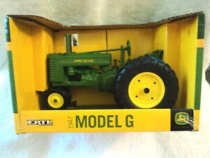 NOS ERTL Toys 1947 John Deere Model G Farm Tractor 1/16 Scale Diecast #45287