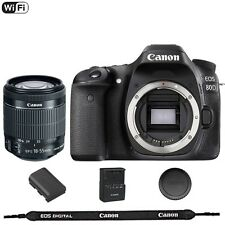 Canon EOS 80D 24.2 MP DSLR Camera with EF-S 18-55mm f/3.5-5.6 STM Lens