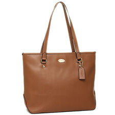 Coach Saddle Brown Cross-grain Leather Zip Top Tote - NWT - $295 MSRP!