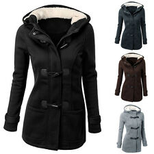 HOT PLUS SIZE WINTER WARM WOMENS LADIES HOODED TRENCH PARKA JACKET COAT OVERCOAT