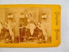 Stereoview Popular Series The Chief Captured Man On Knee Holding Womans Hand (O)