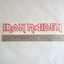 IRON MAIDEN Vinyl DECAL STICKER BLK/WHT/RED Heavy Metal BAND Logo Window Guitar